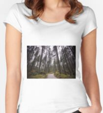 Bavarian Alps Path - 2/4 Women's Fitted Scoop T-Shirt
