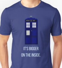 Doctor Who Tardis: It's Bigger on the Inside (Blue) T-Shirt