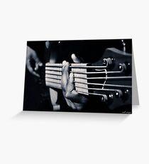 Hands Playing Bass Guitar  Greeting Card