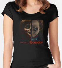 annabelle vs chucky Women's Fitted Scoop T-Shirt