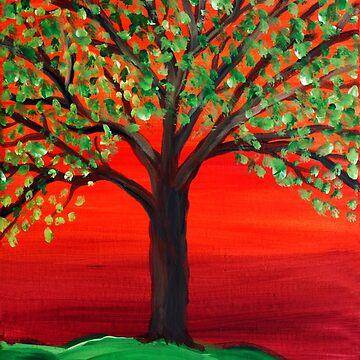 Sunset Tree by Ravasak