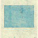 Colorado State Map Blue Vintage by HubertRoguski