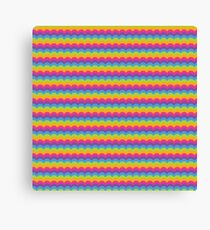Bright Hue Wave Pattern Canvas Print