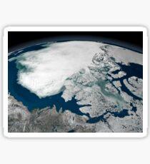 Arctic sea ice above North America Sticker