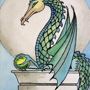 Dragon with Orb by Ravasak