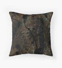 Forest Floor Art Texture Throw Pillow