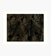 Forest Floor Art Texture Art Print