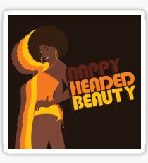 """Nappy Headed Beauty"" Sticker"
