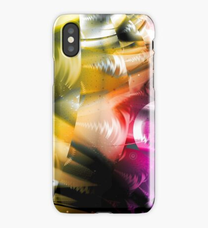Yellow Machinery Abstract Art iPhone Case