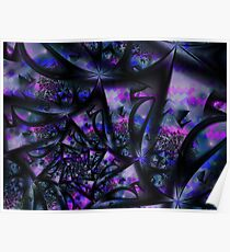 Purple Dreams Abstract Poster