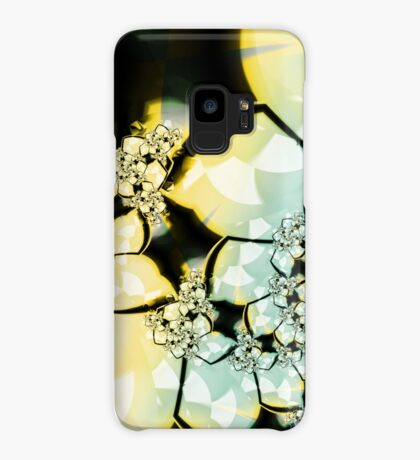 Yellow Green Flower Art Case/Skin for Samsung Galaxy