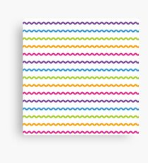Bright Hue Wavy Line Pattern Canvas Print