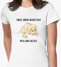 The Land Before Time: Three horns never play with long necks! Womens Fitted T-Shirt