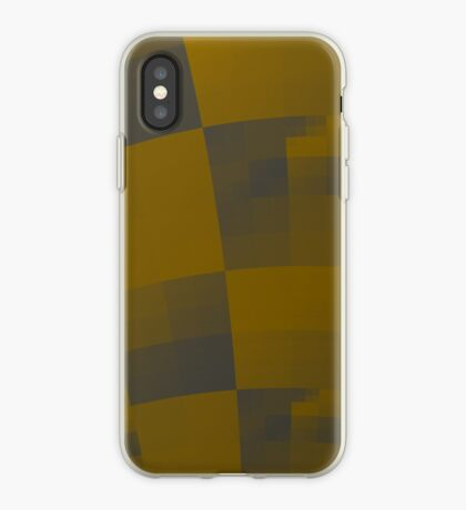 Squares Abstract Pattern Brown iPhone Case