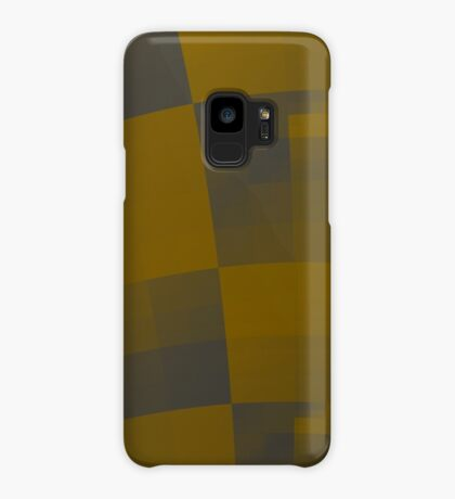 Squares Abstract Pattern Brown Case/Skin for Samsung Galaxy