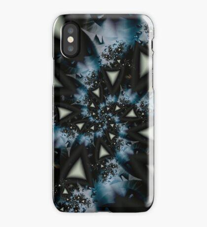Blue White Triangle Spiral iPhone Case