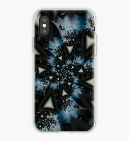Blue White Triangle Spiral iPhone Case