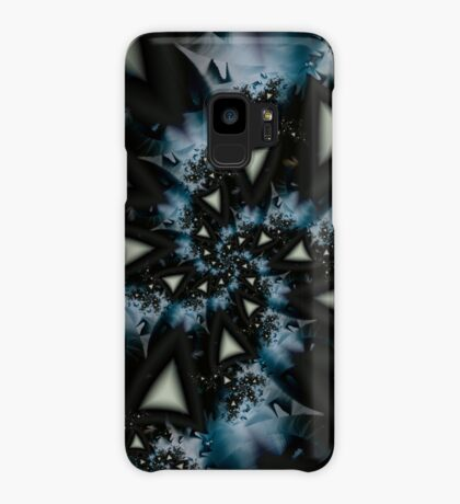 Blue White Triangle Spiral Case/Skin for Samsung Galaxy
