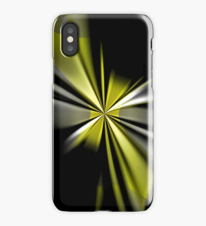 Yellow Flower Abstract iPhone Case