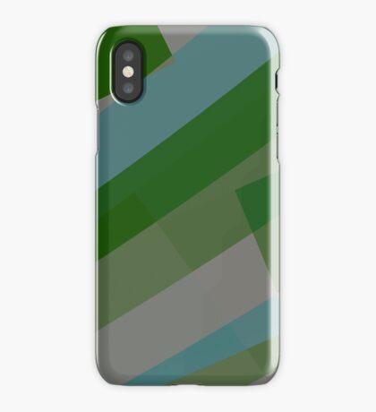 Leopard Zebra Pattern Green Blue Gray iPhone Case