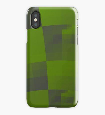 Green Squares Pattern Design iPhone Case