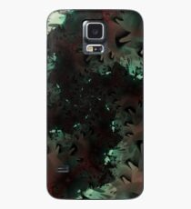 Red Green Snowflake Abstract Design Case/Skin for Samsung Galaxy