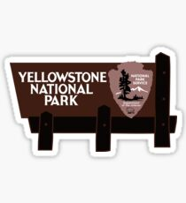 Yellowstone National Park Sign, Wyoming, USA Sticker