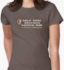 Great Smoky Mountains National Park, NC & TN, USA Womens Fitted T-Shirt