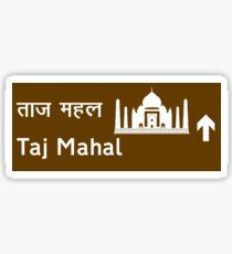 Taj Mahal, Road Sign, India Sticker