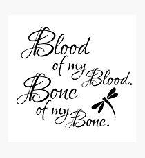 Blood and Bone Photographic Print
