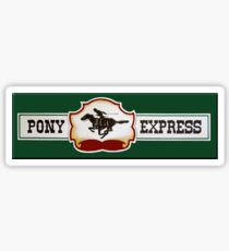 Pony Express Sticker