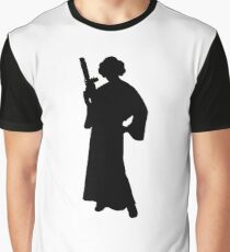 Star Wars Princess Leia Black Graphic T-Shirt