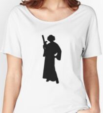 Star Wars Princess Leia Black Women's Relaxed Fit T-Shirt