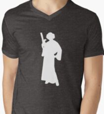 Star Wars Princess Leia White Men's V-Neck T-Shirt