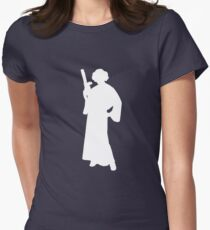 Star Wars Princess Leia White Women's Fitted T-Shirt