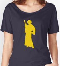 Star Wars Princess Leia Yellow Women's Relaxed Fit T-Shirt
