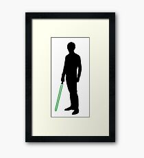 Star Wars Luke Skywalker Black Framed Print