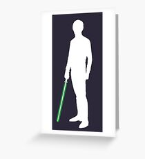 Star Wars Luke Skywalker White Greeting Card