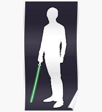 Star Wars Luke Skywalker White Poster