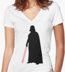 Star Wars Darth Vader Black Women's Fitted V-Neck T-Shirt