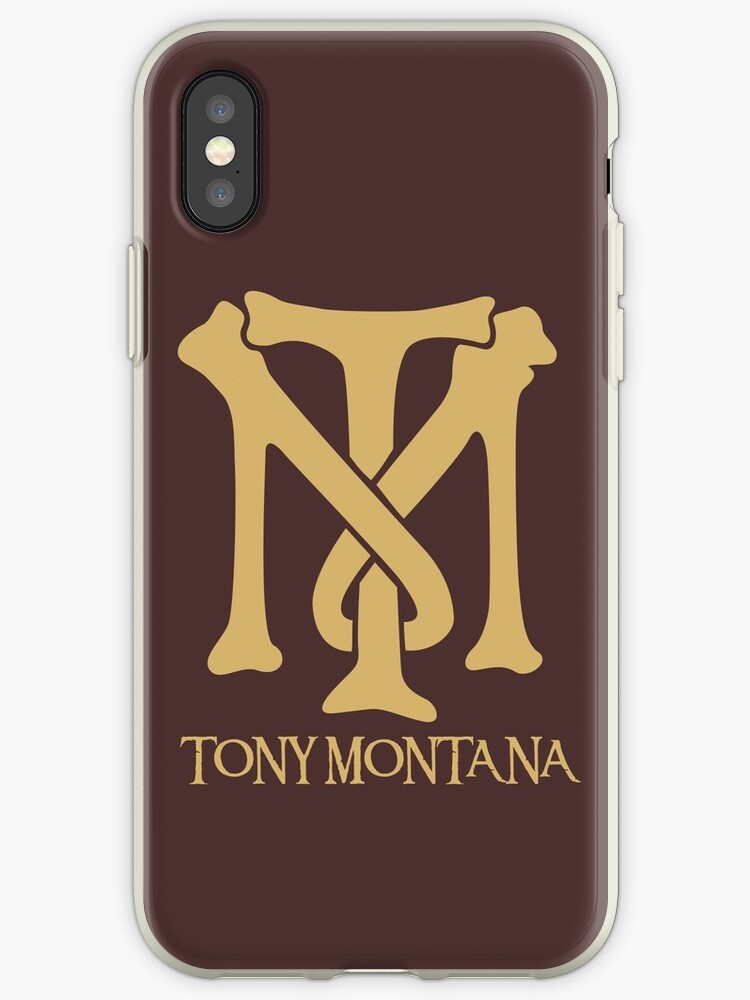 Tony Montana Logo Iphone Cases Covers By Yasin17 Redbubble