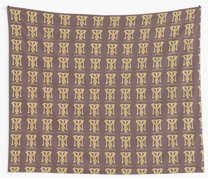Tony Montana Logo Wall Tapestries By Yasin17 Redbubble