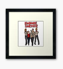 Endure Survive Framed Print