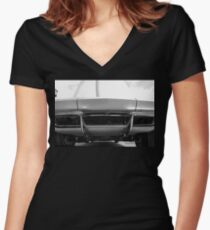 Sting Ray Nose Women's Fitted V-Neck T-Shirt