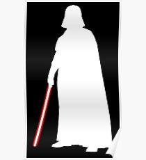 Star Wars Darth Vader White Poster