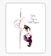 Pole Dancer Sticker