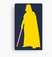 Star Wars Darth Vader Yellow Canvas Print