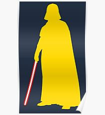 Star Wars Darth Vader Yellow Poster