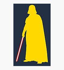 Star Wars Darth Vader Yellow Photographic Print