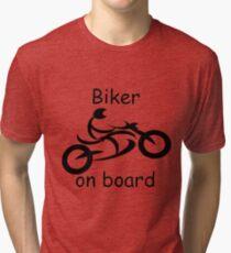 Biker on board 5 Tri-blend T-Shirt